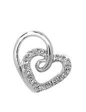 Colgante Corazón Blanco Diamante Collar De Oro Tasación Certificado