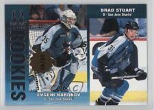 1999 Pacific Omega Premier Date #212 Evgeni Nabokov Brad Stuart San Jose Sharks