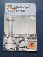 Bibliothèque de travail - BT n° 499 1961 - LACQ LUSSAGNET MOURENX