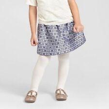 Genuine Kids Oshkosh Toddler Girls Blue Cream Jacquard Skirt,12M 18M 2T 3T 4T 5T