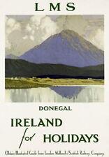83870 Vintage Ireland Donegal Railways Travel Decor WALL PRINT POSTER CA