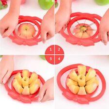 Apple Slicer Cutter Fruit Pear Corer Divider Stainless Steel Metal Blade