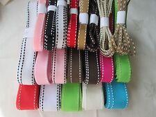 Saddle Stitch  Grosgrain Ribbon   -  various colours / widths