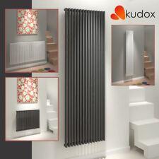 "Kudox ""Xylo"" White & Anthracite Square Column Designer Radiators (16 Sizes)"