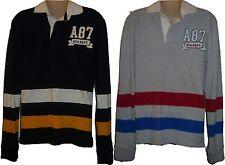 ffe3b46b4 Mens AEROPOSTALE Aero Long Sleeve A87 Patch Jersey Polo Shirt NWT  2464
