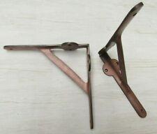 PAIR of antique style cast iron shelf brackets shelf support wall bracket