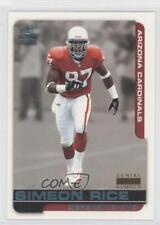 2000 Pacific Paramount Platinum Blue Non-Numbered #5 Simeon Rice Football Card