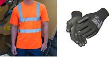 Warnschutz T-Shirt orange S-3XL XXXL Warn Polo Shirt Warnshirt Hemd warnorange