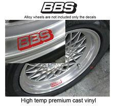 Set of 4 X BBS alloy wheel rim decal sticker aufkleber