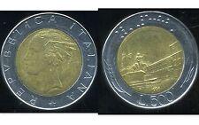 ITALIE   ITALY  500 lire 1986  ( bis )