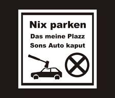 Privatparkplatz Parken verboten Parkverbot Fun Auto Schild 20x20 cm wetterfest