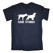 Love Stinks T-SHIRT tee dog puppy trainer animal funny birthday gift present him