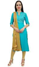 atasi türkis gerade designer salwar kameez indischen bollywood ethnische anzug