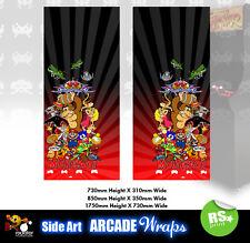 Multijuegos Arcade Laterales Arte Panel Rojo Gráficos Pegatinas/Laminado Todos Los Tamaños