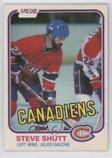 1981-82 O-Pee-Chee #180 Steve Shutt Montreal Canadiens Hockey Card