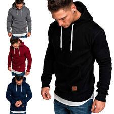 Men Long Sleeve Hoodies Sweat  Hooded Gym Sports Pullover Sweatshirt Size M-5XL