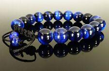 Shamballa Tigers Eye BLUE GEMSTONE Crystal Beaded BRACELETS 6mm, 8mm,10mm