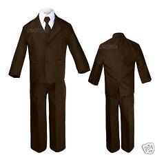 New Baby Toddler & Boy Wedding Tuxedo Suit 0M-24M,2T 3T 4T 5 6 7 8 10 12 Brown