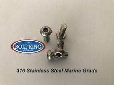 M6 Button Head Socket screw 316 stainless steel Marine Grade