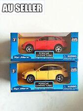 2 X 1:36 Posche Cayenne Tubo Diecast Model Vehicle Pull Back Car Decor 2 Colors