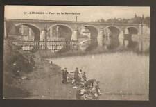 LIMOGES (87) LAVANDIERE au PONT DE LA REVOLUTION