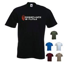 'Resistance is Futile' - Borg / Star Trek Movie / Picard / ~ mens Funny T-shirt.
