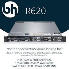 Dell PowerEdge R620 2x XEON TEN Core Configurable 128GB RAM H710p Rails Server