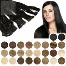 Clip-In Extensions Set 7 Teile Haarteile 35cm 70g 100% Echthaar Haarverlängerung