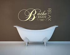 Fare il bagno relax godono bagno contemporaneo Muro Adesivo Decalcomania Trasferimento Murale