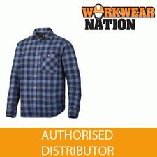 Snickers 8501 ruffwork rembourré flanelle à carreaux LS bleu marine chemise