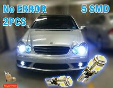 2x 5 SMD LED 501 T10 194 CANBUS NO ERROR FREE XENON WHITE SIDE LIGHT BULBS 7000K