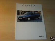 11629) Opel Corsa B France Prospekt 1996