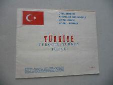 TURKEY TURKEI TURQUIE  LIST OF ALL TURKISH HOTELS IN 1962 ONLY 4 IN ANTALYA!