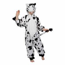 Childrens Black & White Cow Farm Yard Animal Fancy Dress Up Halloween Costume