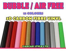 【AIR Free 750 mm x 2000 mm】ALL COLOUR【Carbon Fibre Vinyl】Wrap 3D Textured 4 CAR
