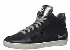 Momino 3744M coole winter Sneakers Chucks Leder Lammfell schwarz Gr. 34-41 Neu