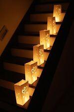 10 Stk. Candle Bags, Luminaria, Lichttüten- 9 verschiedene Designs zur Auswahl !