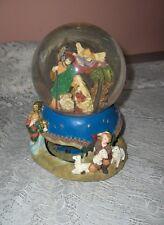 Estate Snow Globe Music Box Nativity Christmas