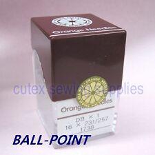 100 Orange DBX1 16X231 16X257 Ball-Point Industrial Sewing Machine Needles