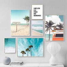 Ocean Coastal Poster Palm Tree Seascape Canvas Print Nordic Picture Home Decor