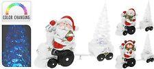 17cm Treno di Natale in ceramica con colori cangianti LED Decorazione albero di Natale