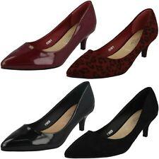 Spot On Ladies Kitten Heel Court Shoes