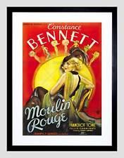 MOVIE FILM MOULIN ROUGE MUSICAL COMEDY CONSTANCE BENNETT FRAMED PRINT B12X5553