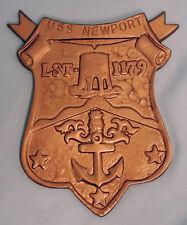 USN US NAVY USS NEWPORT LST-1179 SHIPS CREST INSIGNIA AWARD PLAQUE