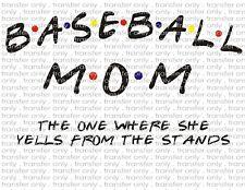 Baseball Mom Waterslide Decals for Tumblers & Furniture - Permanent