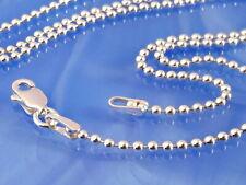 Kugelkette Silber 925 Kugel rund 1,5 Kette Armband 18-80 cm Sterlingsilber ka240