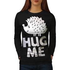 Hug Me Igel Fun Frauen Langarm T-SHIRT NEU | wellcoda