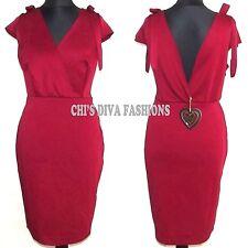 Asos Club L Plus Bodycon Tie Schulter Midi Kleid Größe UK 20,22, 26, 28