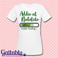 T-shirt donna Addio al Nubilato, Mojito Loading, cocktail personalizzabile