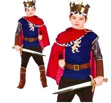 Niño De Lujo Rey Medieval Royal Knight Fancy Dress Libro Semana Costume Chicos 5-10y